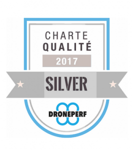 Badge Qualification drone Silver Droneperf